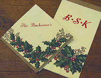 Personalized napkins and invitations from Initial It Please